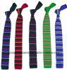 Commerce de gros cravate en tricot de couleur unie