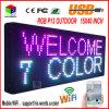 P13 15 de '' placa de mensagem programável ao ar livre do desdobramento do texto do sinal do diodo emissor de luz da cor cheia x 40