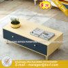 Verre aluminium moderne Partition/station de travail de bureau en bois (UL-MFC556)