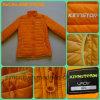 Down van de Manier van vrouwen Oranje Lichte Jasje voor de Winter (sm-WQJ02)