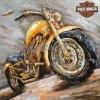 Декор искусствоа стены металла 3 d для мотоцикла Harley