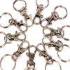 Acier plaqué nickel métal Split trousseau de clés avec le crochet accessoires de la chaîne (HSS0010)