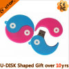 Customerized 선물 Yin와 양 PVC USB 섬광 드라이브 (YT-YY)