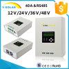 DUA-Ventilateur de MPPT 40A 48V/36V24V12V refroidissant RS485-Port&#160 ; Régulateur Scf-40A de panneau solaire