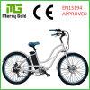 숙녀를 위한 Steet 정면 포크 Ebike 바닷가 함 전기 자전거 36V 250W