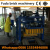 Kleine automatische blockierenblock-Maschine der plasterungs-Qt40-2 in Ghana
