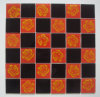 Red/Black Mosaic Glass con Flower Pattern (TM8025)