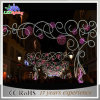 2017 Vakantie Kerstmis over van het LEIDENE van de Straat de Lichten Motief van de Decoratie