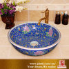 Chinese Colorful Decorative Round Ceramic Bathroom Toilet Basin