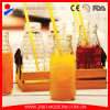 Wholesale 300ml Glass Soy Milk Bottle with Relief Embossing