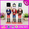 Christmas Wooden Decorative Casse-noisette Soldier, Artisanat en bois Casse-noisier Soldat Toy, Wooden Doll pour Décoration de fête W02A044