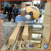 Hueco del bloque de madera que forma la máquina