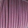 Cabo de poder trançado colorido de matéria têxtil do ziguezague, fio da lâmpada, cabo elétrico