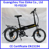 Bicyclette électrique pliante de 20 pouces avec pompe à pneus