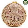Sacos de embreagem de forma redonda de alta qualidade Sacos de noite de strass Bolsas de luxo de mulher de pedra de cristal Leb886