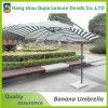 Venta caliente al aire libre paraguas de sol de metal plátano Coffee House jardín Sombrilla