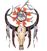 Etiqueta engomada temporal impermeable del tatuaje del tótem del dragón de la Buey-Pista