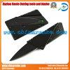 Cuchillo negro de la tarjeta de crédito para acampar o senderismo