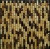 Mixta de piedra de mármol natural de color teja de mosaico para la construcción de viviendas Material de pared (FYSM071)