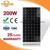 el panel solar 200W para las aplicaciones residenciales, comerciales, y públicas