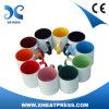 o Sublimation 11OZ anula a caneca cerâmica com o colorfol interno e o punho