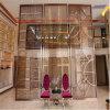 Feuille de panneau de couleur de bronze de polonais de miroir de solides solubles pour le poste de partition d'écran en métal de construction d'hôtel