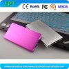 Banco portátil novo da potência da forma 8000mAh do livro da cor-de-rosa do metal