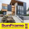 Profilé en aluminium Balustrade noire utilisée pour les escaliers dans une villa fantastique