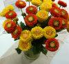 Flor artificial de la margarita de 2 pistas para la decoración del hogar/de la boda (SF15028)