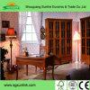ホテルの床-取付けられた二重流しの純木の浴室の家具