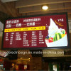 Double Side LED Light Boxのための天井Hanging Restaurant Menu Board Price List Advertizing Display