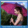 3 sección Outdoor Compact Mini Sun y Rain Weather Parasol Umbrella con Printing para Promotion Gift Use