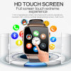Manier 1.54  Touch-Screen Sport/Slim Polshorloge Bluetooth met Camera X6