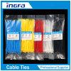 Schwarze/weiße Nylonkabelbinder-Hersteller-Qualitäts-Plastikkabelbinder