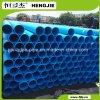 Preto PE100 com linha azul tubulação de água plástica