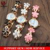 Yxl OEM-342 Reloj de pulsera de cerámica blanca de la moda para mujeres señoras reloj de pulsera brazalete de oro casual