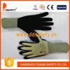 De hete Gele Latex Met een laag bedekte Handschoen van de Verkoop
