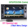 """6.2 """" 차에 있는 HD DIY 메뉴 Autoradio RDS USB SD Navi GPS"""