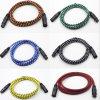 De tejer la red del acoplamiento de doble capa de blindaje XLR equilibrado de la línea macho a hembra de línea de audio Multimedia Mezclador Cable de micrófono