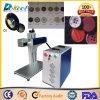 Mini máquina barata de la etiqueta de plástico del CNC del laser del CO2 para el plástico
