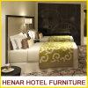 Estrutura de madeira preta de pele artificial Cinza Hotel quarto conjunto de móveis