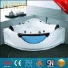 Popular esquina bañera de masaje con vidrio (BT-A1023)
