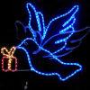 Corda de grossista de iluminação das luzes de LED de Dove Decorações de Natal