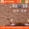 La formation de mousse de papier peint en vinyle de style chinois pour la décoration murale
