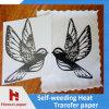 Papel de traspaso térmico de la inyección de tinta del Weeding del uno mismo para la impresión de la prensa del calor de la camiseta del algodón