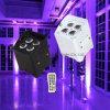 Éclairage de scène professionnel 4pcsx18W RGBWA UV Portable Batterie Disco Parti Laser sans fil de commande à distance des feux d'éclairage LED