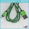 Cable rápido trenzado de nylon del relámpago del cable del cargador