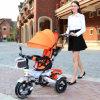 最上質のオレンジカラー押しの赤ん坊の手押車(ly183)