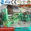 Ponto! Mclw11stnc-16X3000 em uma máquina de dobra inteiramente hidráulica da placa do CNC, universal superior do rolo de Hydrauli