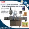 자동적인 2개의 맨 위 압축 공기를 넣은 고추 소스 충전물 기계 (GT2T-2G1000)